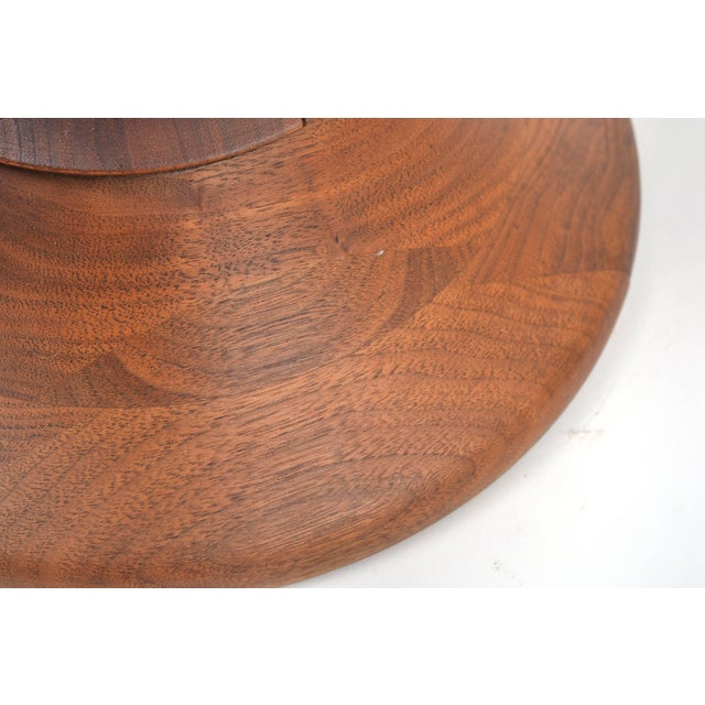 Brown Vintage Eames Walnut Time Life Stool Model B, Circa 1960s For Sale - Image 8 of 11