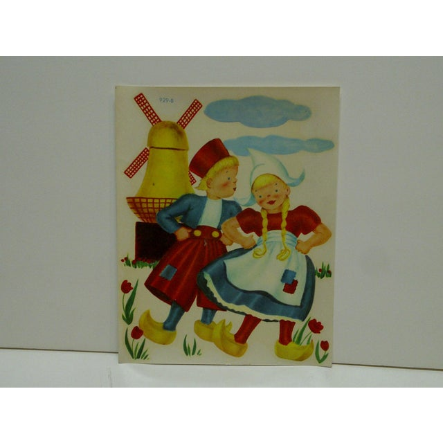 """This is a Vintage -- Decal / Wall Decoration -- Titled """"Dutch Children"""" -- No. 929-B -- By The Meyercord Company --..."""