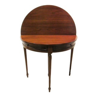 Traditional Round Flip Top Demilune Dining Hall Game Center Table For Sale