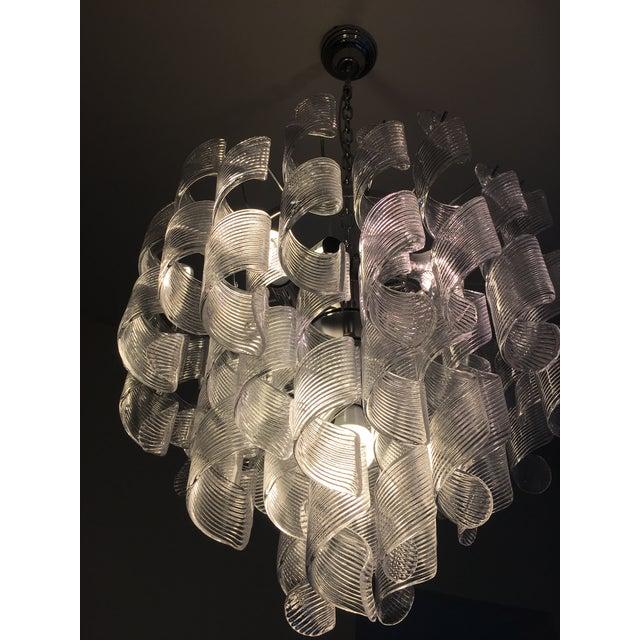 "Mazzega Style Murano Glass ""Spirale"" Sputnik Chandelier For Sale - Image 10 of 11"