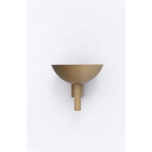 Postmodern Contemporary 200 Sconce in Brushed Brass by Orphan Work, 2020 For Sale - Image 3 of 5