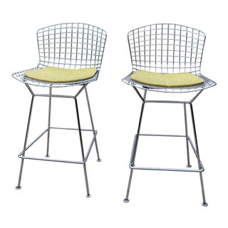 Bertoia for Knoll Barstools Bar Stools - a Pair For Sale