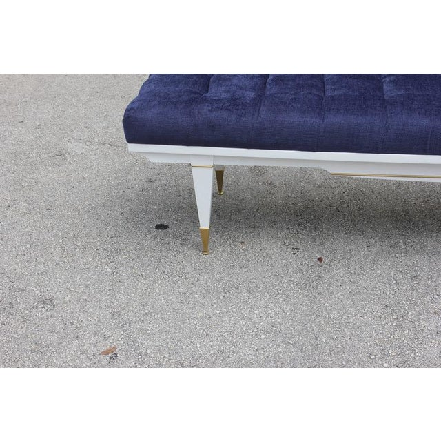 1940s French Art Deco White Lacquered Bench - Image 4 of 10