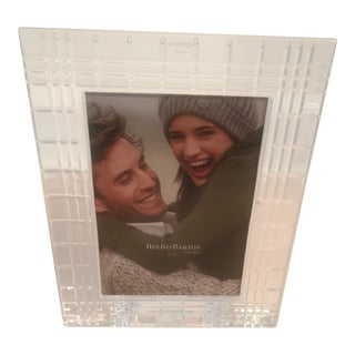 Reed & Barton Crystal Picture Frame For Sale
