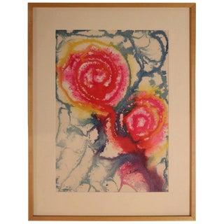 Harvey Leepa Watercolor #3 For Sale
