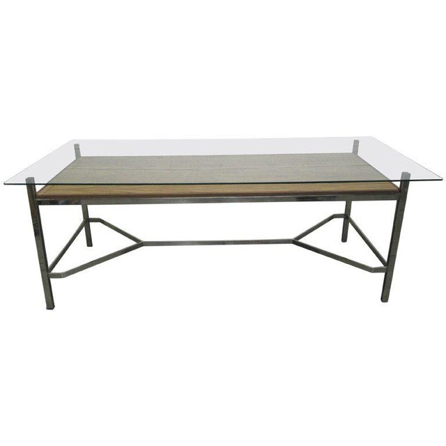 Chrome Leon Rosen for Pace Collection Chrome Desk For Sale - Image 7 of 7