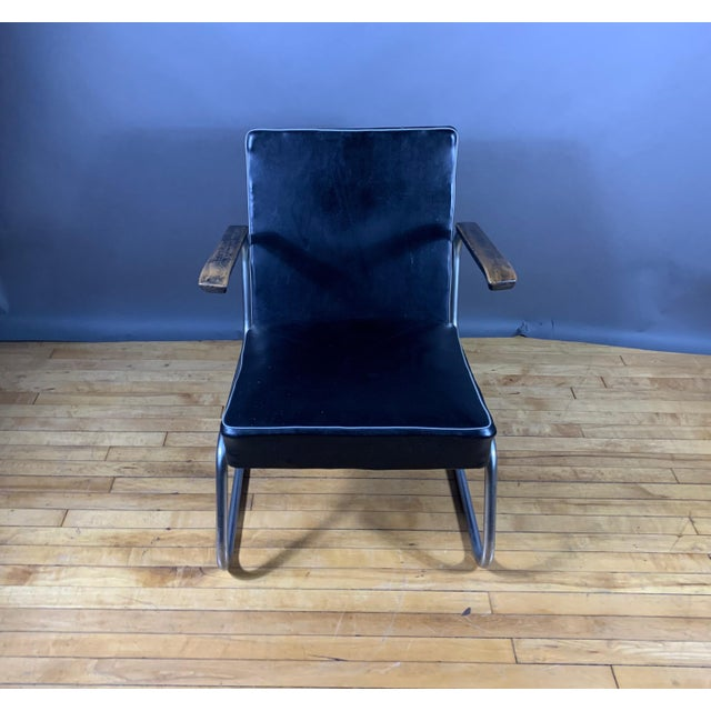 Bauhaus 1950s Drabert Germany Cantilever Armchair For Sale - Image 3 of 12