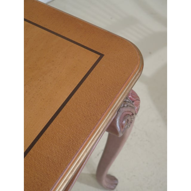Italian 1990s Vintage Italian Style Paint Decorated Desk & Matching Chair For Sale - Image 3 of 13
