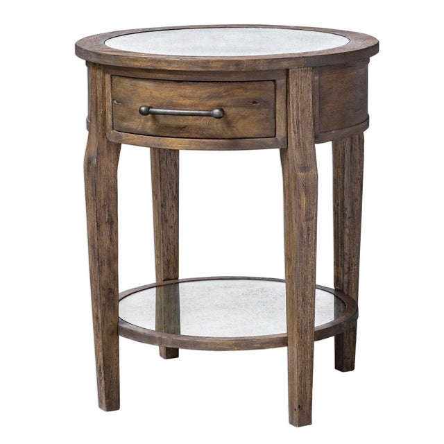 2010s Rustic Lamp Table For Sale - Image 5 of 5