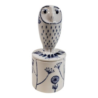 Georgina Warne Owl-Topped Ceramic Trinket Box For Sale