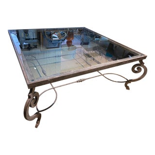 Wrought Iron French Coffee Table For Sale