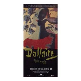 1999 Jean Dallaire Exhibition Poster, Quebec City For Sale