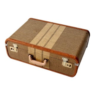 Vintage Stripe Suitcase For Sale