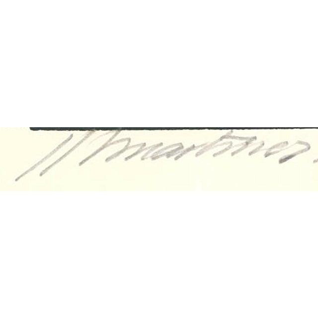 1971 Juan Martinez Composition #1 Hand Signed Silkscreen Print For Sale - Image 4 of 7