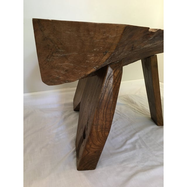 Contemporary Rustic Live Edge Tree Cocktail Table For Sale - Image 3 of 13
