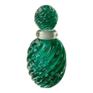 Vintage Mid Century Modern Murano Glass Perfume Bottle For Sale