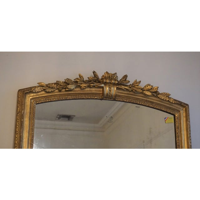 French 19th Century Louis XV Trumeau Mirror For Sale - Image 3 of 8