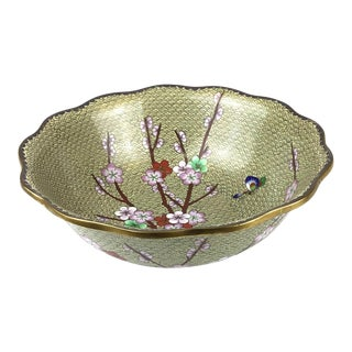Vintage Cloisonné Decorative Bowl For Sale