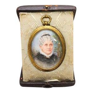 Lucy Waller Miniature Portrait in Original Case