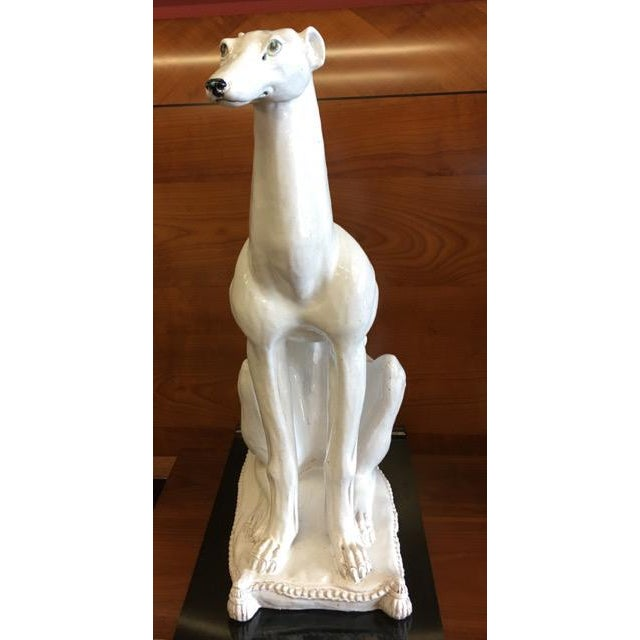 English Traditional Italian Made Greyhound or Whippet Statue For Sale - Image 3 of 12