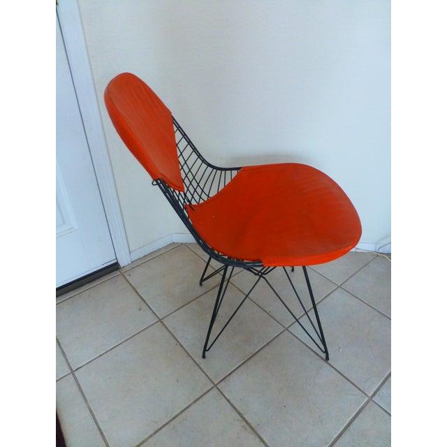 Herman Miller Mid-Century Eames Wire Orange Bikini Chair For Sale - Image 4 of 10