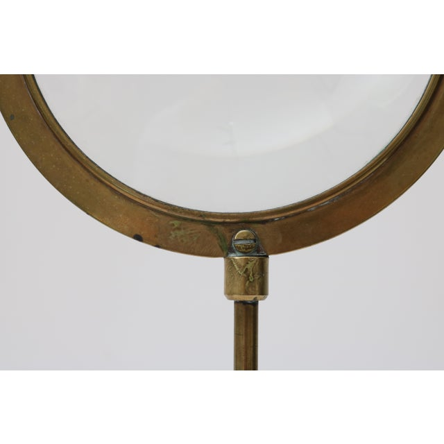 Gold Mid-Century Adjustable Brass Magnifier For Sale - Image 8 of 10