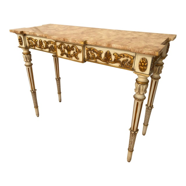 20th Century Vintage Karges Louis XVI Style Console Entry Table For Sale