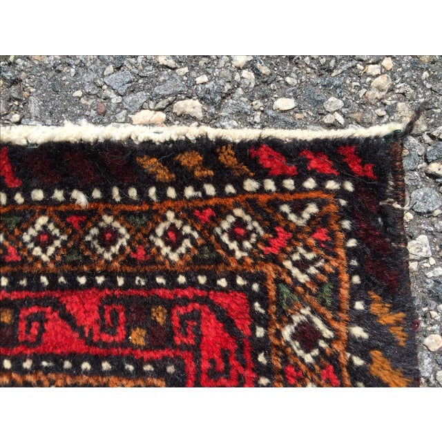 Red Patterned Persian Rug - 1′11″ × 2′9″ - Image 7 of 7