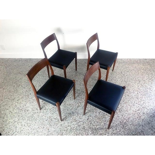 1960s Vintage Arne Hovmand Olsen Danish Teak Dining Chairs - Set of 6 For Sale - Image 9 of 12