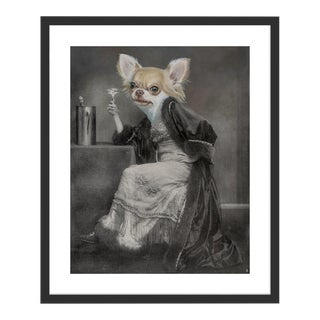 Chihuahua by Anja Wuelfing in Black Frame, Small Art Print For Sale