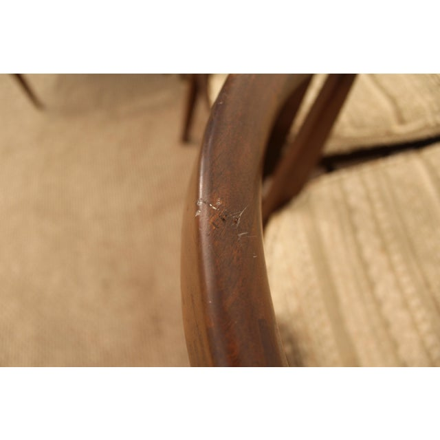 Curved-Back Walnut Dining Chairs - Set of 6 - Image 10 of 11