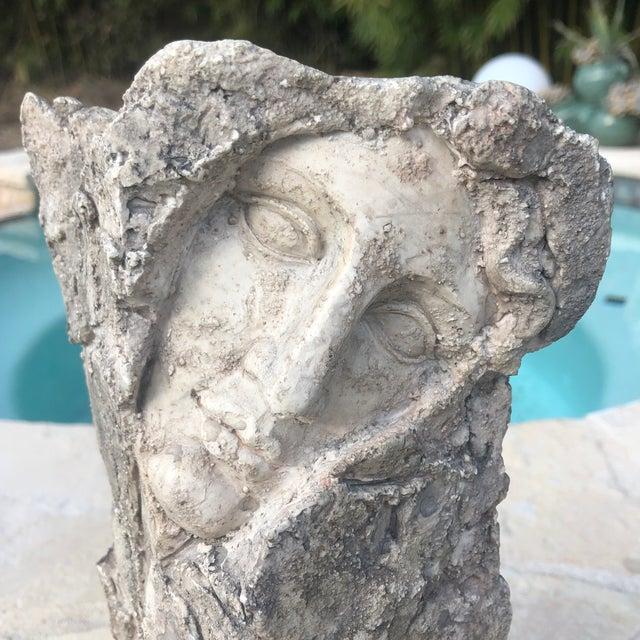 Brutalist Vintage Modern Contemporary Sculptural Two Face Vase For Sale - Image 3 of 12