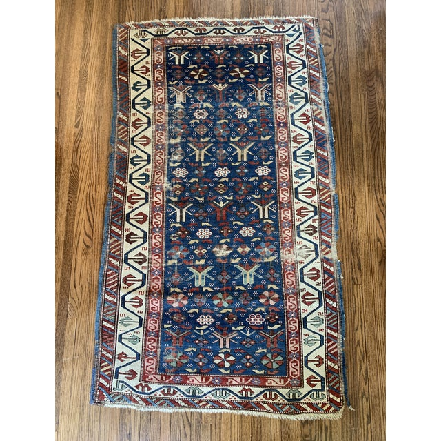 Vintage Hand Knotted Rug- 3'2 X 5'7 For Sale In Minneapolis - Image 6 of 6