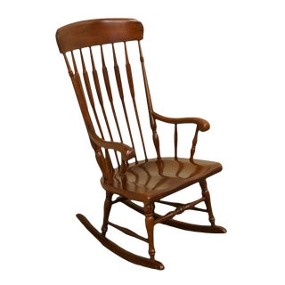 Knob Creek Early American High Back Boston Rocking Chair For Sale