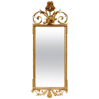 Period English Neoclassical Mirror with Musical Trophies For Sale