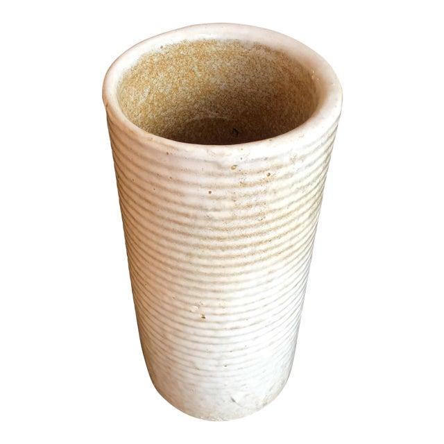 Mid-Century Hand Thrown Ceramic Vase For Sale