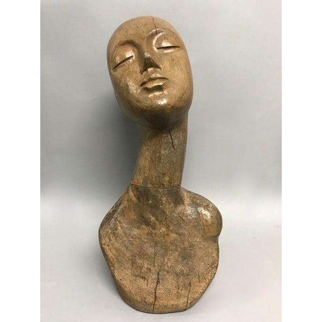 Vintage Carved Wood Mannequin For Sale - Image 9 of 9