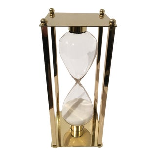 Traditional Brass Frame Hourglass