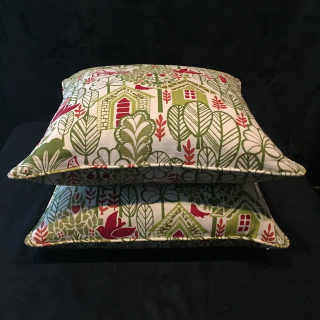 Swedish House Accent Feather Pillows - Image 5 of 6