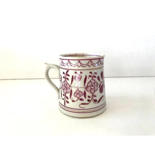 Marcolini Meissen Early 18th-Century Meissen Purple Indian Coffee Can For Sale - Image 4 of 10