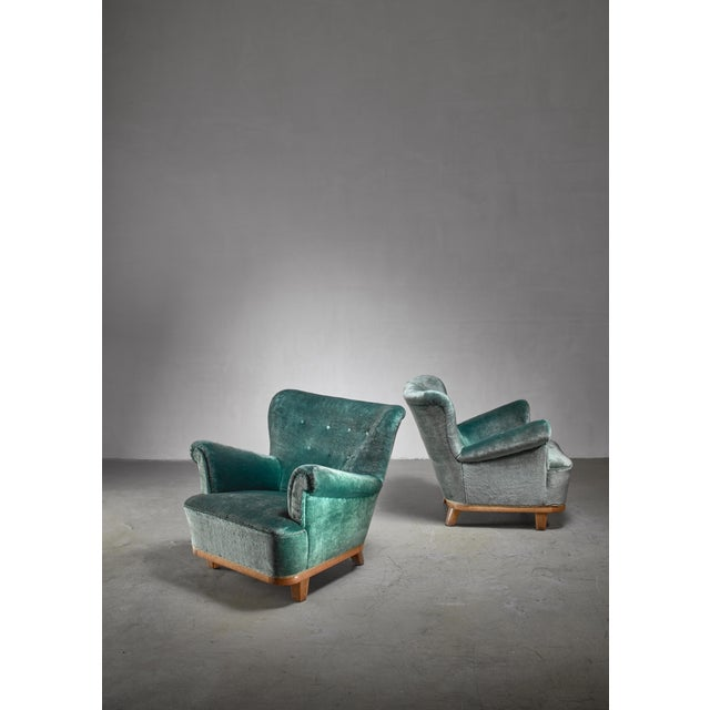Pair of Swedish Easy Chairs, 1940s For Sale - Image 4 of 5