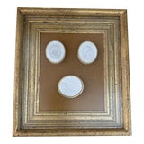 Image of Italian Grand Tour Plaster Intaglio Neoclassical Style Collection in Gilt Wood Frame For Sale