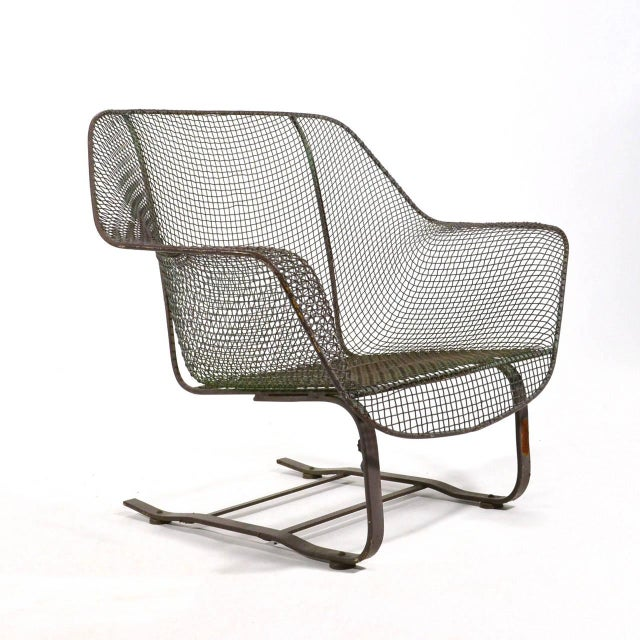 Woodard Sculptura Large Cantilevered Lounge Chair - Image 3 of 7