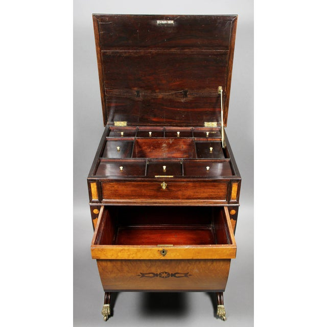 Unusual Regency Rosewood and Bird's-Eye Maple Music Table For Sale - Image 4 of 9
