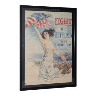 "Howard Chandler Christy ""Fight or Buy Bonds"" World War I Propaganda Poster C.1917 For Sale"