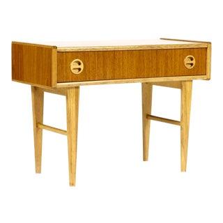 Danish Modern Teak Low Entry Table For Sale