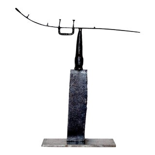 Contemporary Abstract Welded Steel Sculpture by Scott Gordon (Shaman, 2010) For Sale