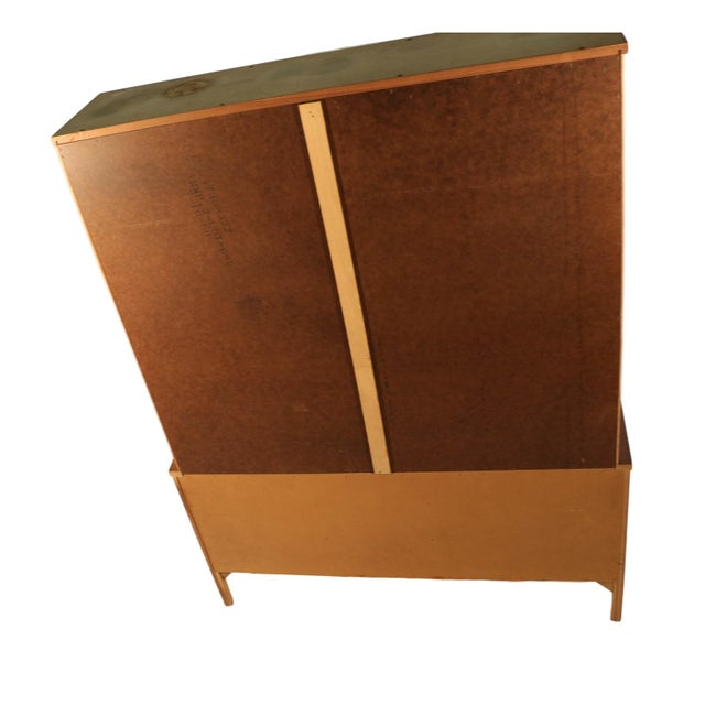 Tan Kent Coffey Perspecta Mid-Century Modern China Hutch Cabinet For Sale - Image 8 of 9