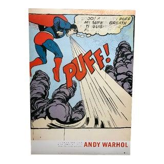 Andy Warhol Original 2001 Exhibition Poster Superman European Showcase For Sale