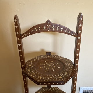Anglo Indian Bone Inlaid Cake Stand Preview